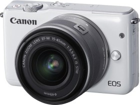 Canon EOS M10 weiß mit Objektiv EF-M 15-45mm 3.5-6.3 IS STM (0922C012)