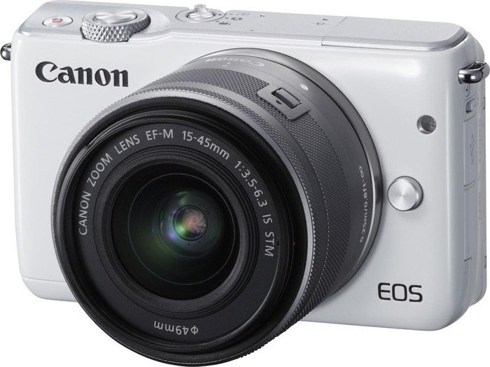 Canon EOS M10 white with lens EF-M 15-45mm 3.5-6.3 IS STM (0922C012)