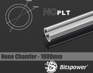 Bitspower HardTube PETG Rohr, 100cm, 14/11mm, klar (BP-NCPLT14-L1000)