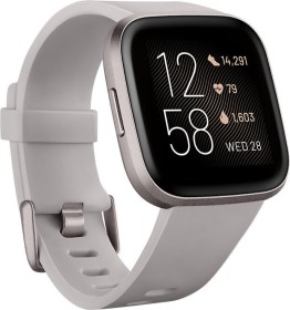 Fitbit Versa 2 Aktivitäts-Tracker stone/mist grey aluminium (FB507GYSR)