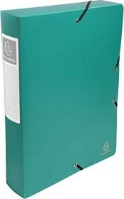 Exacompta Archivbox aus Kunststoff A4, blickdicht, 60mm, grün (59883E)