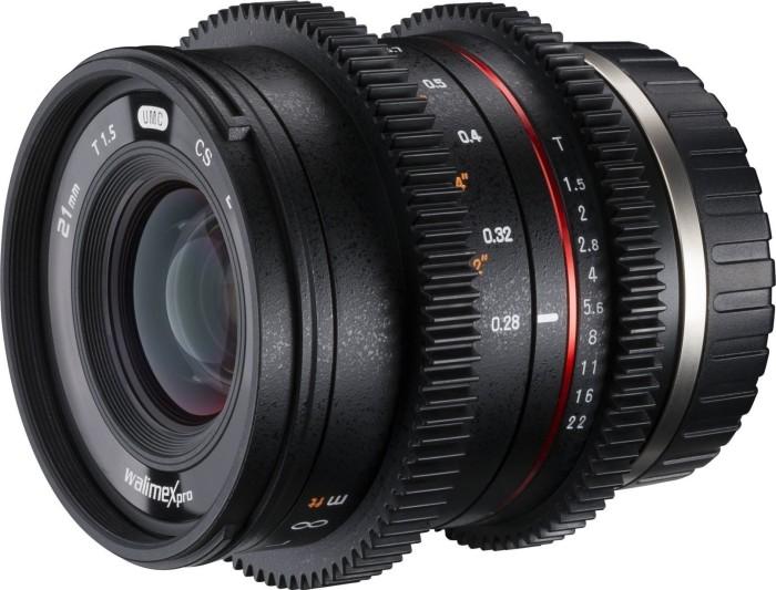 Walimex Pro 21mm 1.5 Video APS-C für Canon EF-M schwarz (21140)