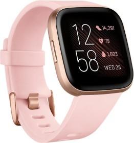 Fitbit Versa 2 Aktivitäts-Tracker petal/copper rose aluminium (FB507RGPK)