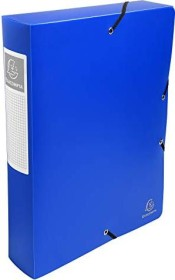 Exacompta Archivbox aus Kunststoff A4, blickdicht, 60mm, hellblau (59882E)