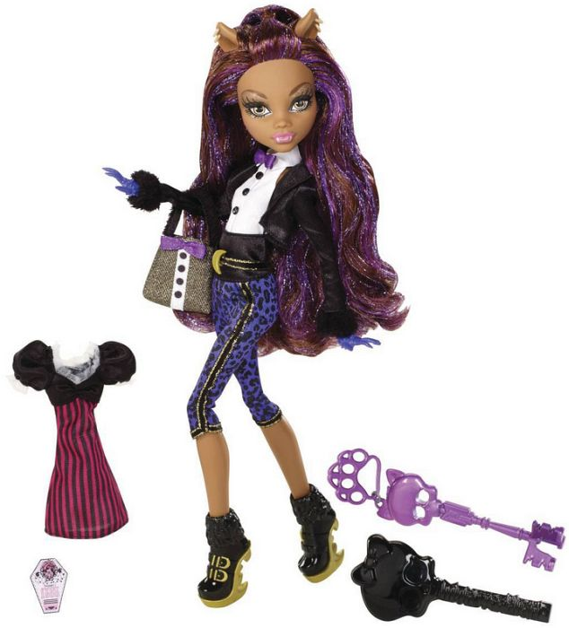 Mattel Monster High Sweet 1600 Clawdeen Wolf W9191