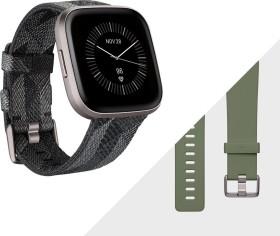 Fitbit Versa 2 Special Edition Aktivitäts-Tracker smoke woven/mist grey aluminium (FB507GYGY)
