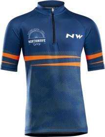 Northwave Origin Trikot kurzarm blau/orange (Herren) (89201283-27)
