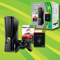 Microsoft Xbox 360 slim , Forza 4 Essentials + Skyrim Bundle, 250GB (Xbox 360) (R9G-00167)