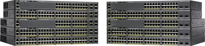 Cisco Catalyst 2960-X LAN Base Rackmount Gigabit Managed stack switch, 24x RJ-45, 2x SFP+, 370W PoE+ (WS-C2960X-24PD-L)