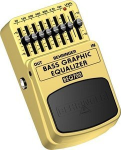 Behringer BEQ700 7-band equalizer Effect pedal -- © Copyright 200x, Behringer International GmbH