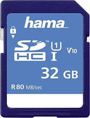 Hama HighSpeed R80 SDHC 32GB, UHS-I, Class 10 (00124135) -- via Amazon Partnerprogramm
