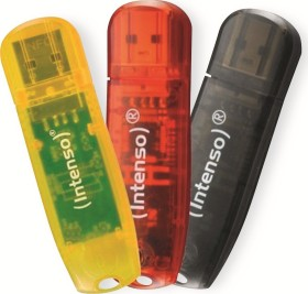 Intenso Rainbow Line 16GB, USB-A 2.0, 3er-Pack (3502473)