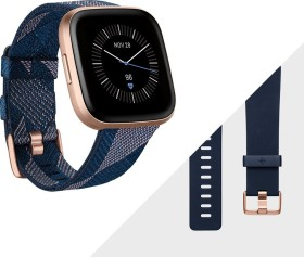 Fitbit Versa 2 Special Edition Aktivitäts-Tracker navy pink woven/copper rose aluminium (FB507RGNV)