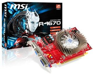 MSI R4670-MD1G, Radeon HD 4670, 1GB DDR3, VGA, DVI, HDMI (V182-003R)