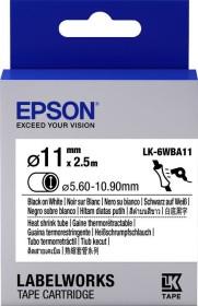 Epson LK-6WBA11 shrink tubing 11mm, black/white (C53S656902)