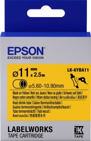 Epson LK-6YBA11 shrink tubing 11mm, black/yellow (C53S656904)