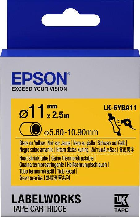 Epson LK-6YBA11 Schrumpfschlauch 11mm, schwarz/gelb (C53S656904)