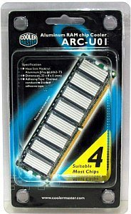 Cooler Master ARC-U01 aluminium RAM Chip Cooler (8 pieces)