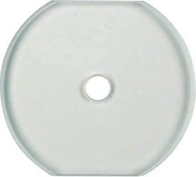 Berker Serie Glas Glasabdeckmittelplatte, klar (1095)