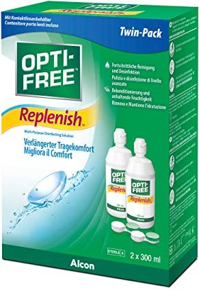 Alcon Opti-Free RepleniSH rozwiązanie All in One Twin Pack 600ml (2x 300ml) -- przez Amazon Partnerprogramm
