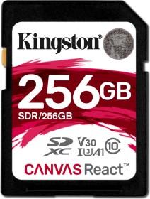 Kingston Canvas React R100/W80 SDXC 256GB, UHS-I U3, A1, Class 10 (SDR/256GB)