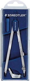 Staedtler Mars basic 558 Präzisionszirkel, Universaladapter, silber/blau (558 01)