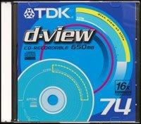 TDK d-view CD-R 74min/650MB, sztuk 20
