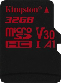 Kingston Canvas React R100/W70 microSDHC 32GB, UHS-I U3, A1, Class 10 (SDCR/32GBSP)
