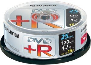 Fujifilm DVD+R 4.7GB 16x, 25-pack Spindle (47493)