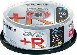 Fujifilm DVD+R 4.7GB 16x, 25er Spindel (47493)