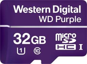 Western Digital WD Purple R80/W50 microSDHC 32GB, UHS-I U1, Class 10 (WDD032G1P0A)