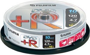 Fujifilm DVD+R 4.7GB 16x, 10-pack Spindle (47592)