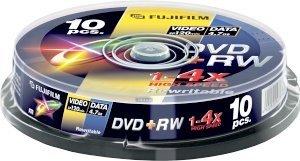 Fujifilm DVD+RW 4.7GB 4x, Cake Box 10 sztuk (48135)
