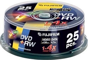 Fujifilm DVD+RW 4.7GB 4x, 25er-Pack (48136)