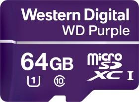 Western Digital WD Purple R80/W50 microSDXC 64GB, UHS-I U1, Class 10 (WDD064G1P0A)