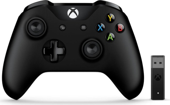 Microsoft Xbox One Wireless Controller inkl. Wireless Adapter schwarz (PC/Xbox One) (4N7-00002)