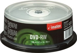 Imation DVD-RW 4.7GB 4x, 25-pack Spindle (21063)