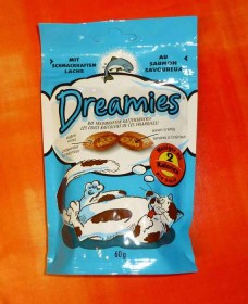 Dreamies cat treats salmon