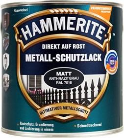 Hammerite Metallschutz-Lack Matt außen anthrazitgrau 250ml Dose (5272545)