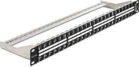"""DeLOCK Patchpanel für RJ-45 Keystone Module 19"""" schwarz, 48-Port, 1HE (43280)"""