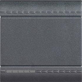 Bticino LivingLight Wippe neutral 2-modulig, anthrazit (L4915M2N)