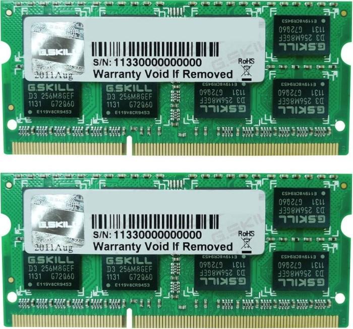 G.Skill SL Series SO-DIMM Kit 8GB, DDR3L-1600, CL9-9-9-28 (F3-1600C9D-8GSL)