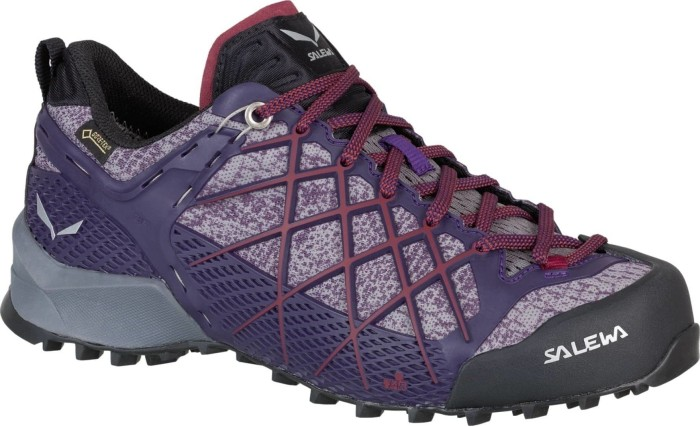 Salewa WS Wildfire GTX, Damen Trekking- & Wanderhalbschuhe, Mehrfarbig (Black/Purple), 38.5 EU (5.5 UK)