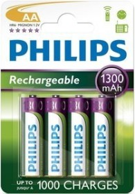 Philips MultiLife Mignon AA NiMH 1300mAh, 4-pack (R6B4A130/10)
