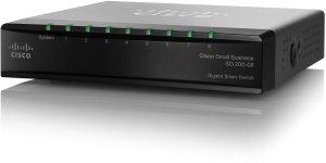 Cisco SG200 Desktop Gigabit Smart Switch, 8x RJ-45, PoE PD (SG200-08/SLM2008T)