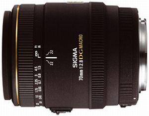 Sigma AF 70mm 2.8 EX DG Makro für Sigma schwarz (270956)