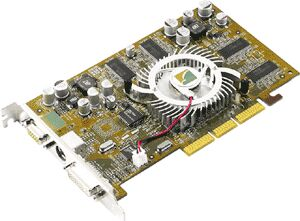 Albatron Ti4200P, GeForce4 Ti4200, 128MB DDR, DVI, TV-out, AGP