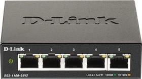 D-Link DGS-1100 desktop Gigabit Smart switch, 5x RJ-45, V2 (DGS-1100-05V2)