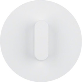Berker Serie R.classic Abdeckplatte mit Knebel, polarweiß (1001208900)