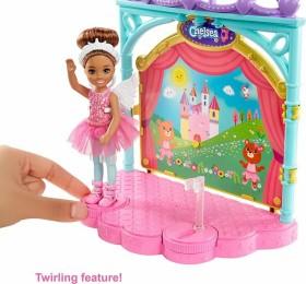 Mattel Barbie Chelsea Doll and Ballet Playset (GHV81)